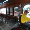 Newburyport: Trolley driver Mike Vetrano drives around Newburyport.Jim Vaiknoras/Staff photo