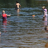 Amesbury: Kids frolic in the breif sunshine Saturday morning at Family Fun Day at Lake Gardner in Amesbury. Jim Vaiknoras/Staff photo