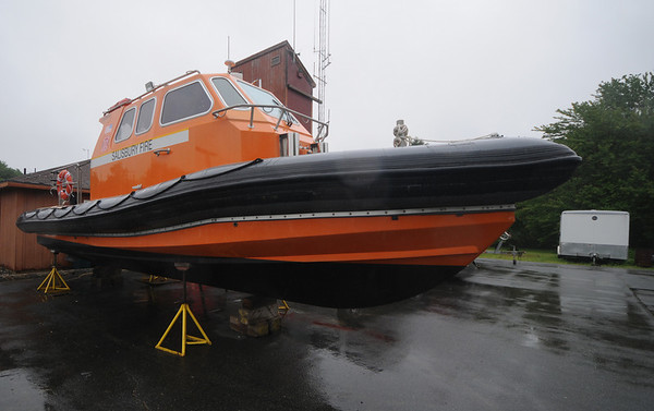 Salisbury: The new rescue boat at the Salisbury Fire Dept. Jim  Vaiknoras/Staff photo