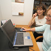Newburyport:Rebecca Shafir works on peak cognitive performance with client Elaine LeBlanc,<br /> Jim Vaiknoras/staff photo