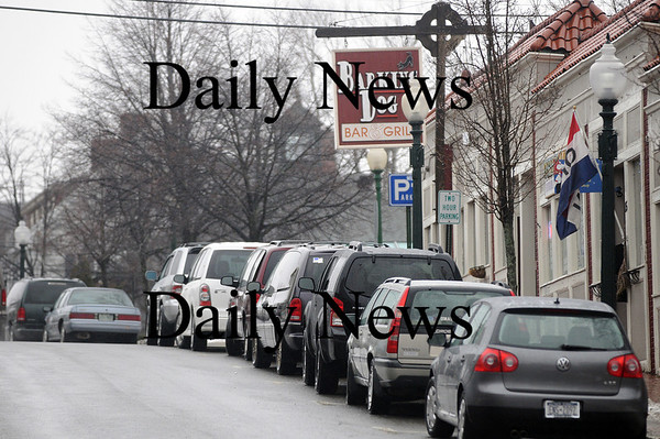 Amesbury: Parking in downtown Amesbury has become problematic, with employees and shoppers sharing a limited number of spaces. Photo by Ben Laing/Staff Photo