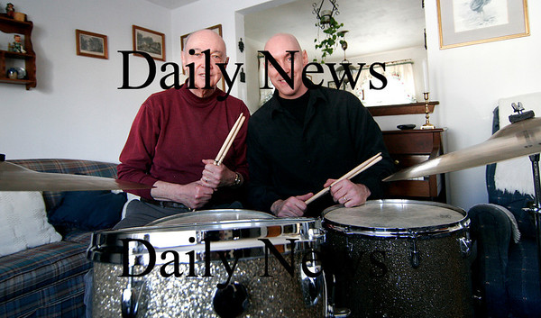 Newburyport: Les Harris Sr. and his son, Les Harris Jr. are both jazz drummers who  will be performing in concerts in both Amesbury and Newburyport in the coming weeks. Photo by Ben Laing/Staff Photo