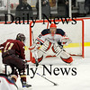 Chelmsford: Newburyport's Ryan Cutter (11) walks in alone on Lincoln-Sudbury's goalie, scoring the games first goal in the first period. Photo by Ben Laing/Newburyport Daily News Thursday March 5, 2009.