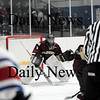 Stoneham: Newburyport goalie Chris Eiserman. Photo by Ben Laing/Newburyport Daily News Tuesday March 3, 2009.