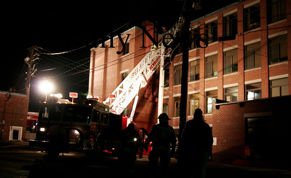 Newburyport: A fire at Glenn's Galley in Newburyport saw a full response from the Newburyport Fire Department as well as departments from surrounding towns. Ben Laing/Staff Photo