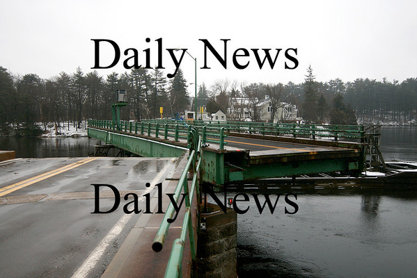 Amesbury: The Hines Bridge was swung open Wednesday afternoon as workers begin repairs. Photo by Ben Laing/Staff Photo