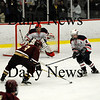 Chelmsford: Kyle McElroy (3) lines up a shot during Thursday nights 3-1 victory over Lincoln-Sudbury in the North Section Finals at the Chelsmford Forum. The Clippers will play Canton at the TD Banknorth Garden on Saturday. Photo by Ben Laing/Newburyport Daily News Thursday March 5, 2009.