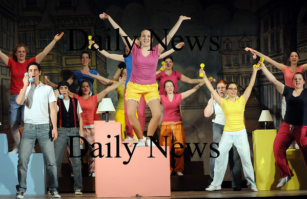 """West Newbury: Students at Pentucket Regional High School rehearse their spring musical, """"Bye, Bye, Birdie"""". The show will open on March 12. Photo by Ben Laing/Staff Photo"""