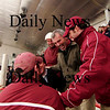 Chelmsford: The Clipper coaches celebrate as the Newburyport hockey team advances to the Eastern Mass. Finals on Saturday at the TD Banknorth Garden after defeating Lincoln-Sudbury 3-1 Thursday night. Photo by Ben Laing/Newburyport Daily News Thursday March 5, 2009.