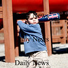 Amesbury: Jacob Carl Garcia-Mitchell, 3, of Amesbury, plays ball with his mom at the Amesbury Town Park Tuesday afternoon. Photo by Ben Laing/Staff Photo