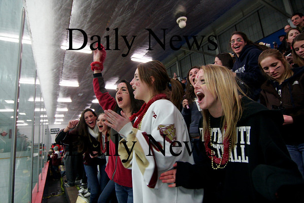 Stoneham: Newburyports fans packed the rink in Stoneham as the Clippers defeated Tewksbury 7-3 to advance to the North Sectional final on Thursday.Photo by Ben Laing/Newburyport Daily News Tuesday March 3, 2009.