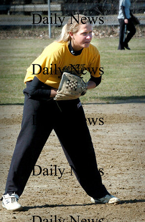 Newburyport:<br /> Newburyport High softball player Lindsey Tomasz.<br /> Photo by Bryan Eaton/Newburyport Daily News Tuesday, March 31, 2009