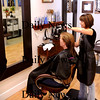 Amesbury:<br /> Owner Julia Alander of the new Salon Aniu in Amesbury attends to Kathy Drouin of Amesbury.<br /> Photo by Bryan Eaton/Newburyport Daily News Thursday, March 12, 2009
