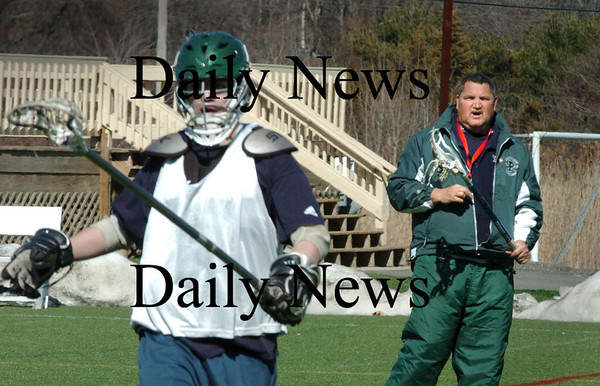 Amesbury:<br /> New Pentucket High lacrosse coach Brian Williams.<br /> Photo by Bryan Eaton/Newburyport Daily News Wednesday, March 25, 2009