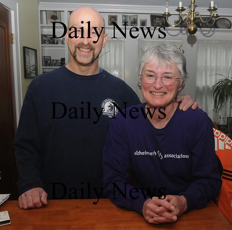 Newburyport: Marathon runners Dale Ann Granger-Eckert and her husband Dale Bob Eckert of Newburyport. Jim Vaiknoras/staff photo