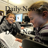 Salisbury: Joey Mical and Skylar Harrington, students in Graham Eaton's 4th grade class at the Salisbury Elementary school work in computer class on an animal project Tuesday.Their project was on the rain forest in Myanmar. photo by Jim Vaiknoras/Newburyport Daily News. Tuesday March 3, 2009