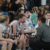 Boston: Pentucket's coach John McNamara consoles by his team after the Sachems 61-46 loss to Swampscott in the North final at Emmanuel College in Boston Saturday photo by Jim Vaiknoras March 7, 2009