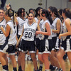 Methuen:Pentucket' Girls basketball team walk off the court after beating St Mary's 38-27  at Methuen High Thursday night. photo by Jim Vaiknoras Newburyport Daily News, Thursday March 5, 2009