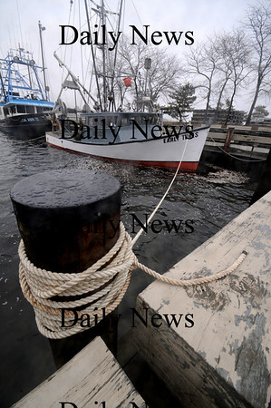Newburyport: The Early Times and the Lisa Ann 2 are secured as the tide rises in the Embayment in Newburyport Sunday. Jim Vaiknoras/staff photo