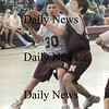 Newburyport:Dan Kennedy of the Pistons posts up a Celtics player in the Newburyport Boys Basketball Association 8th grade championship game Sunday at Newburyport High. The Celtics won the game 57-54..Jim Vaiknoras/staff photo