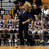 Boston:Georgetown's girls basketball coach Barri Ann Alonzo celebrates  during the Royal North Finals victory over New Mission at Emmanuel College in Boston.photo by Jim Vaiknoras March 7 2009