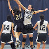 Methuen:Pentucket's Kirsten Daamen with a block on St Mary's Alison McCarthy during the Sachems 38-27 win at Methuen High Thursday night. photo by Jim Vaiknoras Newburyport Daily News, Thursday March 5, 2009