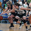 Boston: Pentucket's Kirsten Daamen goes after a loose ball during the Sachems 61-46 loss to Swampscott in the North final at Emmanuel College in Boston Saturday photo by Jim Vaiknoras March 7, 2009