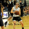 Methuen:Pentucket's Holly Jakobson up fakes  St Mary's Rachel Faieta during the Sachems 38-27 win at Methuen High Thursday night. photo by Jim Vaiknoras Newburyport Daily News, Thursday March 5, 2009