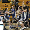 Boston:The Georgetown Girl basketball team celebrates their North Finals victory over New Mission at Emmanuel College in Boston.photo by Jim Vaiknoras March 7 2009