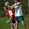 West Newbury: Pentucket's Zoe MacKenzie, right, in a recent game with Ipswich. Bryan Eaton/Staff Photo  Newburyport News  Friday May 1, 2009.