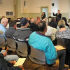 Salisbury: The meeting room at Salisbury Town Hall was filled with people filling all seats and standing in the back as the town held a real estate auction of 7 properties taken for lack of paying taxes. Bryan Eaton/Staff Photo  Newburyport News  Thursday May 28, 2009.