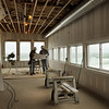 Salisbury: Contractors Brian Lynch, Backriver Development, left, and Ted Rurak, Rurak Electric, in the new restaurant to open at the Pavilion at Salisbury Beach.  Bryan Eaton/Staff Photo  Newburyport News  Thursday May 14, 2009.