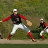 Byfield: Triton's Tom Kuzcar leads on Amesbury first baseman Jake Conant as pitcher James Paradis readies to throw. Bryan Eaton/Staff Photo Newburyport News  Tuesday May 12, 2009.