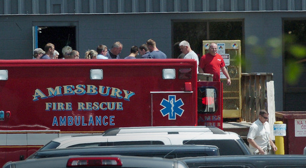 Amesbury: Amesbury Fire and Rescue and police responded to an industrial accident at Muenters late yesterday afternoon. Bryan Eaton/Staff Photo  Newburyport News  Thursday May 21, 2009.
