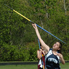 Byfield: Triton's Sam Marino competes in the javelin yesterday in a three-way track meet.Bryan Eaton/Staff Photo  Newburyport News  Wednesday May 13, 2009.