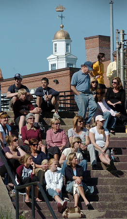 Newburyport: Fans of Newburyport High baseball got to finally get some warm sunlight as they watched their team take on Amesbury yesterday afternoon at the Lower Field. The weather continues to warm up into the weekend. Bryan Eaton/Staff Photo Newburyport News Tuesday May 19, 2009.