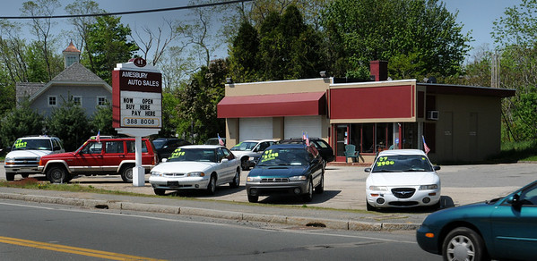Amesbury: Amesbury Auto Sales on Route 150 at the corner of Route 110. Bryan Eaton/Staff Photo  Newburyport News  Wednesday May 13, 2009.