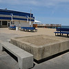 Salisbury: Several physical changes are going on at Salisbury Beach this week. The bandstand was dismantled on Tuesday and is going to be replaced with one to the right of these large planters which have been moved to Oceanfront North at the head of Broadway. Bryan Eaton/Staff Photo  Newburyport News  Tuesday May 26, 2009.