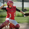 Amesbury: Amesbury softball catcher Laura Kaminski. Bryan Eaton/Staff Photo  Newburyport News  Wednesday May 13, 2009.