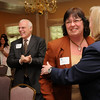 Georgetown: Esther Sayer is applauded as she was named the winner of this year's Edward Molin Community Award at the Greater Newburyport Chamber and Industry's annual dinner at the Georgetown Country Club. Bryan Eaton/Staff Photo  Newburyport News  Wednesday May 13, 2009.