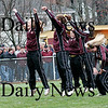 Newburyport: The Newburyport High School cheerleaders perform during halftime of the annual Thanksgiving day football game between Newburyport and Amesbury. Newburyport shut out the Indians 33-0. Photo by Ben Laing/Staff Photo