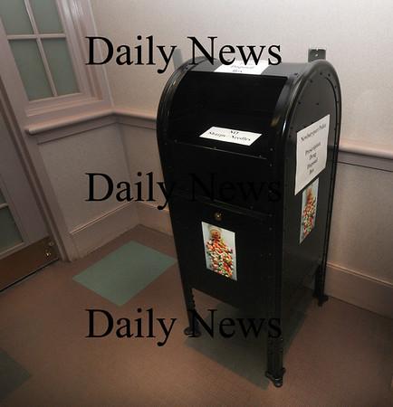 Newburyport: The Newburyport police prescription drug drop box. Jim Vaiknoras/Staff photo