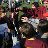 Byfield: Members of the Newburyport Clippers Special Olympics soccer Team celebrate after their game Sunday , they were one of 115 teams at the annual State Soccer Tournament at GovernorÕs Academy in Byfield. Jim Vaiknoras/Staff photo