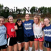 Georgetown: Members of the Georgetown girls soccer team, from left, Taylor Nelson, Ashley Mueskes, Kelly Chickering, Emma Cannon, Nicoline Holland, and Casey Decareau, have helped lead the Royals deep into the North Sectional tournament. Photo by Ben Laing/Staff Photo