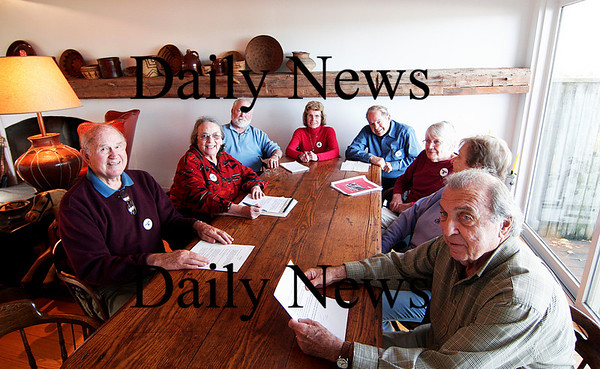 Newburyport: Memembers of Roof Over Head Collaborative hold a meeting at a home on Union Street in Newburyport. The group was formed to help the homeless in the area. Photo by Ben Laing/Staff Photo