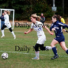 Georgetown: Nicoline Holland (17) out races a Wilmington defender during Georgetown's 1-0 win Friday afternoon. Photo by Ben Laing/Staff Photo