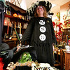 Newburyport: Gail Gandolfi, owner of Flukes and Finds on State Street in Newburyport, is organizing a halloween event in downtown Newburyport called Witches Night Out. Photo by Ben Laing/Staff Photo