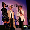 Newburyport: Allyson Gallant, left, Galen March, center, and Hannah Cagney, right, star in the Firehouse production of Storeyville Detectives, which opens this weekend. Photo by Ben Laing/Staff Photo