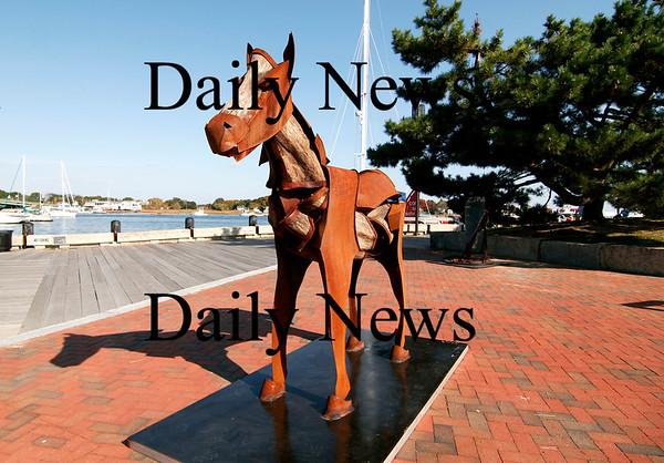 Newburyport: New sculptures have been installed at the Somerby's Landing Sculpture Park in Newburyport. Photo by Ben Laing/Staff Photo