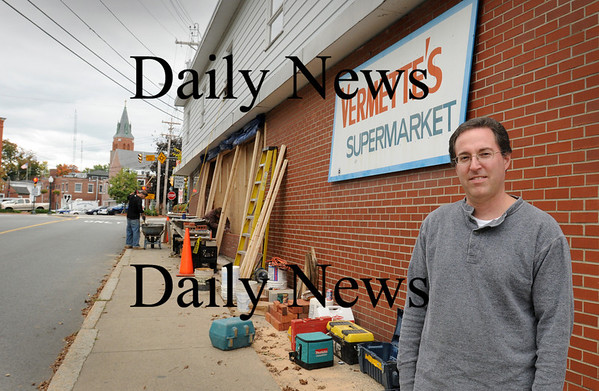 Amesbury: Gerry Morin is manager of the landmark Vermette's Supermarket in downtown Amesbury which is undergoing some renovations with proceeds from its commission for a $10 million lottery win bought there. Bryan Eaton/Staff Photo